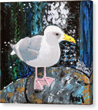 Seagull Perch - Canvas Print - Blue Creations Store