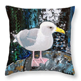 Seagull Perch - Throw Pillow - Blue Creations Store