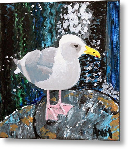 Seagull Perch - Metal Print - Blue Creations Store