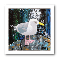 Seagull Perch - Art Print