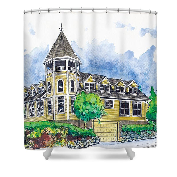 Sidney Professional Building - Shower Curtain - Blue Creations Store