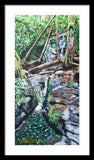 Waterfall - Framed Print - Blue Creations Store