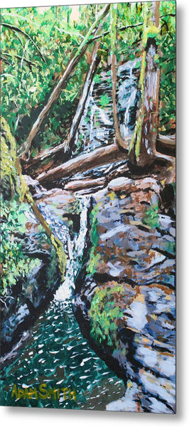 Waterfall - Metal Print - Blue Creations Store