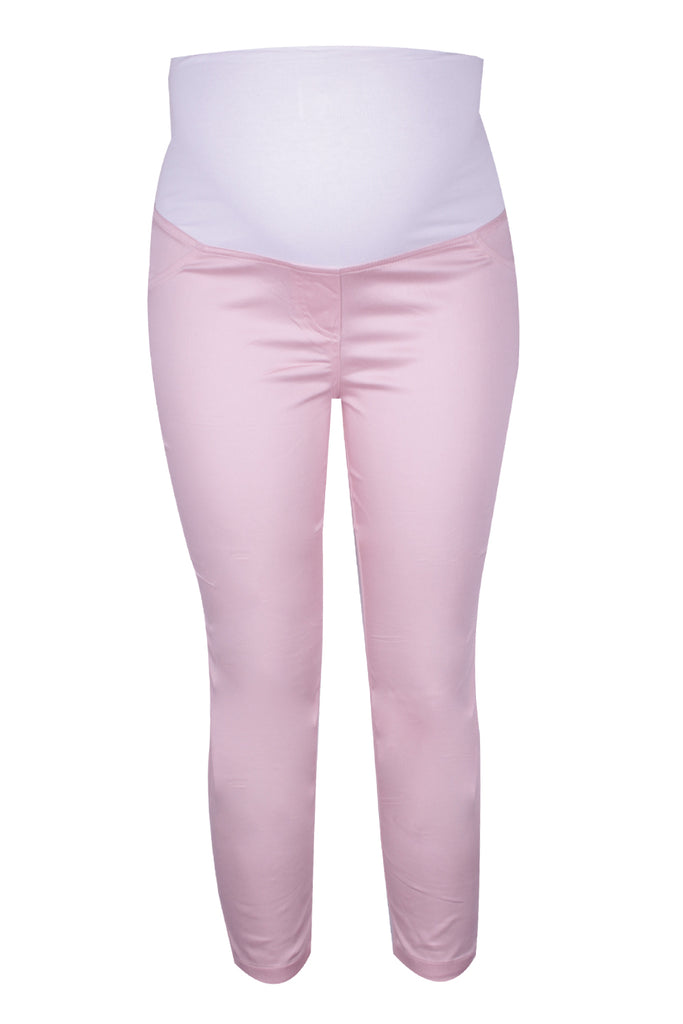 CM458 CROPPED SATEEN PANT BLOSSOM