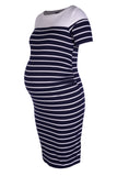 CM298D-STR BOATNECK CONTRAST DRESS CAP SLV
