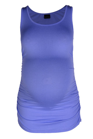 CM380 TANK TOP WITH SIDE DETAIL NEW BLUE