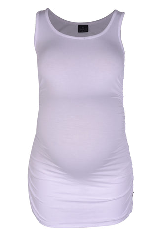 CM380 TANK TOP w SIDE DETAIL WHITE
