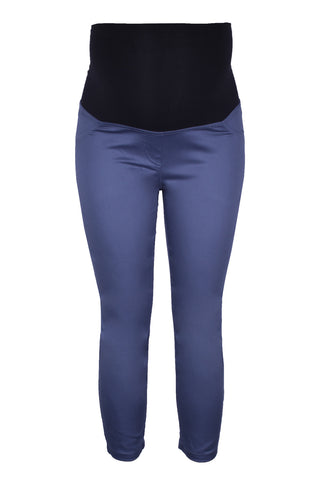 CM458 CROPPED SATEEN PANT PETROL