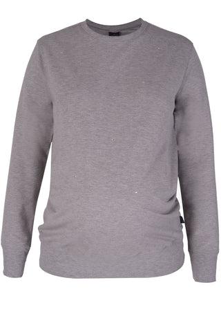 CM515A SWEAT TOP WITH EMBELLISHMENT LT GREY MEL