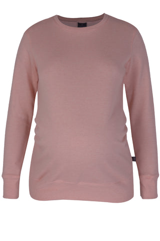 CM515A SWEAT TOP WITH PLEATS PETAL