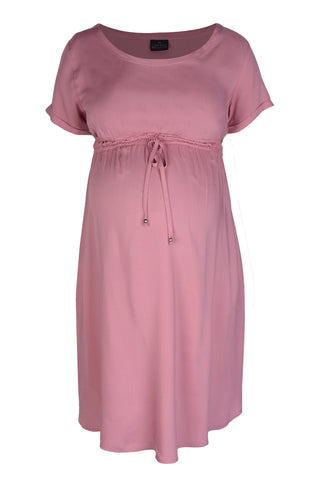 CM287C WOVEN T-SHIRT DRESS DEEP BLUSH