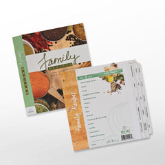 Family Recipe Organizer Kit: LONG Index Tabs