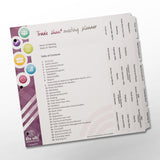 Meeting Planning Organizer Kit for Three Ring Binder (Trade Show Kit)