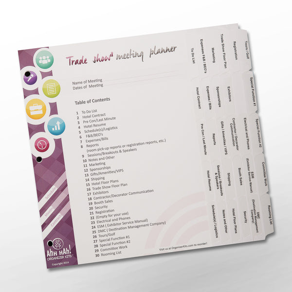 Meeting Planning Organizer Kit - Trade Show