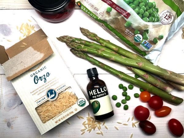 Ingredients for Orzo Salad