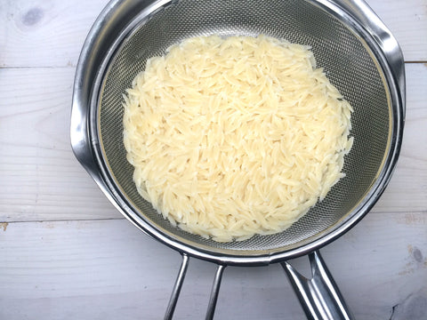 Boiling orzo