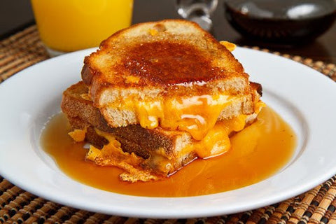 Breakfast Grilled Cheese Sandwich with Maple Syrup Recipe