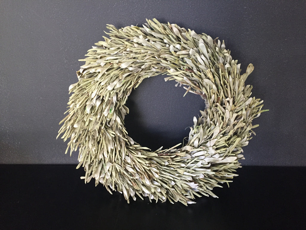 Dried Olive Wreath (Green)