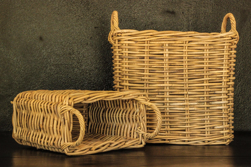 Rectangular Basket with handles – 2 in set