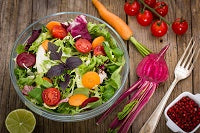 A mixed green salad has numerous health benefits