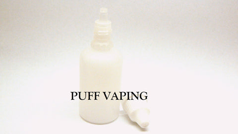 Empty 30ml E-Juice Bottle X5, HDPE Bottle, PUFF Vaping - Puff Vaping