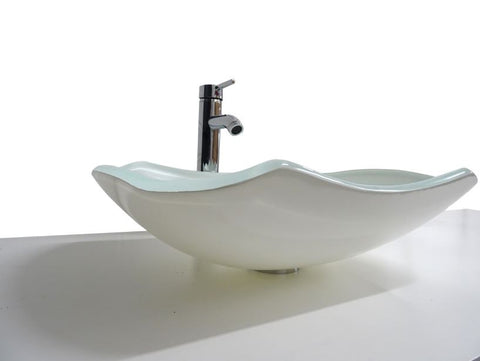 SNUGGX White Tempered Glass Countertop Basin - SNUGGX - 1