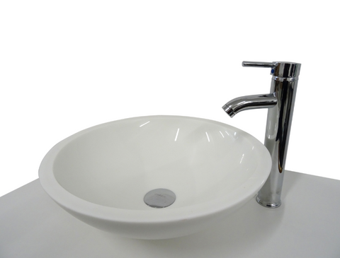SNUGGX Classic White Tempered Glass Countertop Basin - SNUGGX - 1