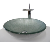 SNUGGX Silver Tempered Glass Countertop Basin - SNUGGX - 1