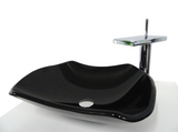 SNUGGX Ebony Tempered Glass Countertop Basin - SNUGGX - 2