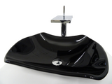 SNUGGX Ebony Tempered Glass Countertop Basin - SNUGGX - 1
