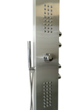 Brushed Stainless Steel Thermostatic Mixer Shower Column - SNUGGX - 6