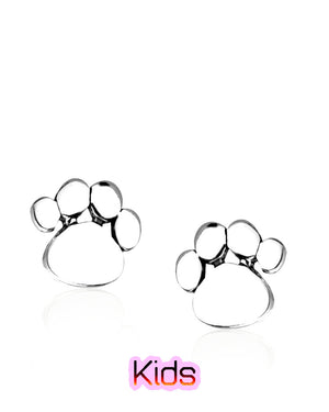 Petite Cat Toe Beans Stud Earrings in Sterling Silver