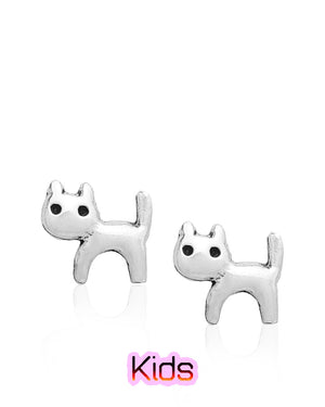 Kittens Everywhere Stud Earrings in Sterling Silver