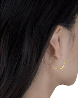 Dachshund Hoop Earrings with 18k Gold Plating over Sterling Silver
