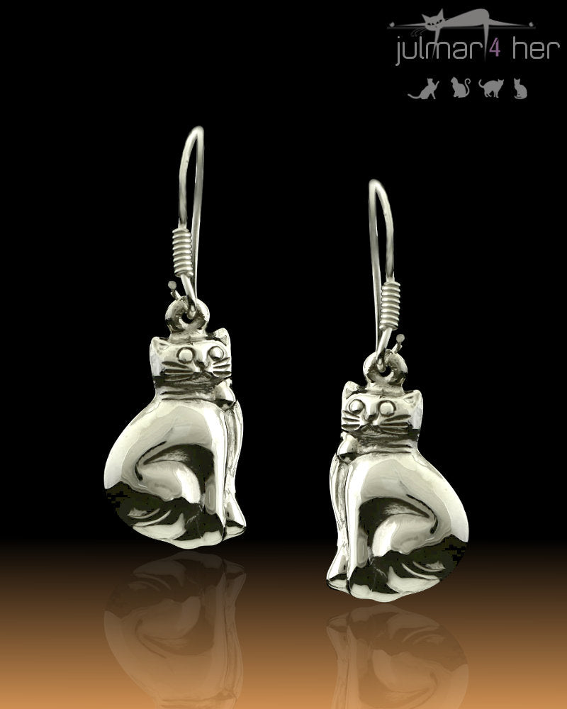 Sterling Silver cat shaped Earrings