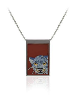 Jaguar Pendant with Vinyls in Stainless Steel