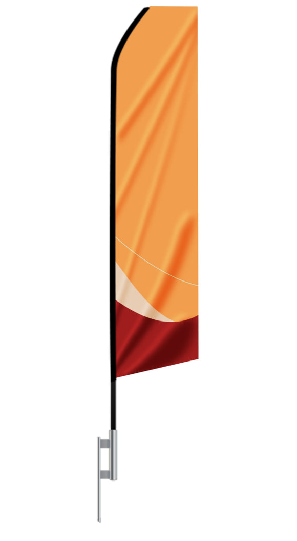 16ft Custom Econo Feather Flag - Single Sided - Minuteman Press formely La Luz Printing Company | San Antonio TX Printing-San-Antonio-TX