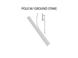 16ft Econo Feather Flag Ground Stake San Antonio, TX