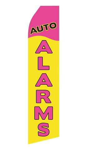 Auto Alarms Feather Flag | Stock Design - Minuteman Press formely La Luz Printing Company | San Antonio TX Printing-San-Antonio-TX