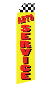 Auto Service Feather Flag | Stock Design - Minuteman Press formely La Luz Printing Company | San Antonio TX Printing-San-Antonio-TX