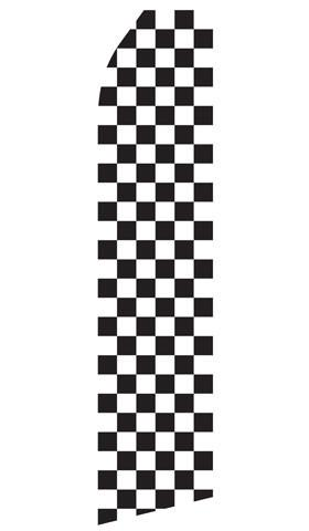 Black and White Checkered Feather Flags | Stock Design - Minuteman Press formely La Luz Printing Company | San Antonio TX Printing-San-Antonio-TX