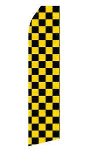 Black and Yellow Checkered Feather Flags | Stock Design - Minuteman Press formely La Luz Printing Company | San Antonio TX Printing-San-Antonio-TX