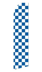Blue and White Checkered Feather Flags | Stock Design - Minuteman Press formely La Luz Printing Company | San Antonio TX Printing-San-Antonio-TX