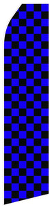 Blue Black Chessboard Feather Flag | Stock Design - Minuteman Press formely La Luz Printing Company | San Antonio TX Printing-San-Antonio-TX