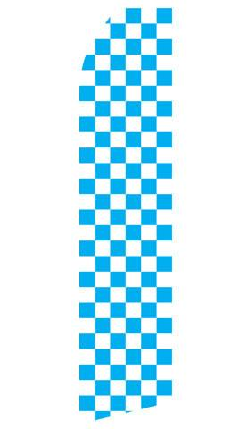 Blue Checkered Feather Flag | Stock Design - Minuteman Press formely La Luz Printing Company | San Antonio TX Printing-San-Antonio-TX