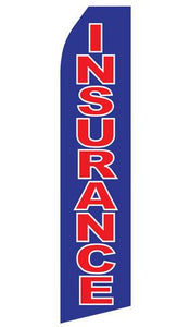 Blue Insurance Feather Flags | Stock Design - Minuteman Press formely La Luz Printing Company | San Antonio TX Printing-San-Antonio-TX