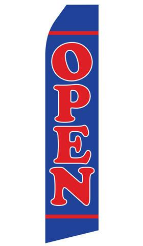 Blue Open Feather Flag | Stock Design - Minuteman Press formely La Luz Printing Company | San Antonio TX Printing-San-Antonio-TX