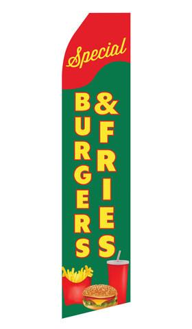 Burger and Fries Feather Flags | Stock Design - Minuteman Press formely La Luz Printing Company | San Antonio TX Printing-San-Antonio-TX