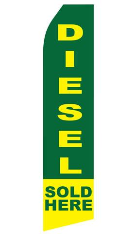 Diesel Sold Here Feather Flag | Stock Design - Minuteman Press formely La Luz Printing Company | San Antonio TX Printing-San-Antonio-TX