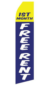 First Month Free Rent Feather Flag | Stock Designs - Minuteman Press formely La Luz Printing Company | San Antonio TX Printing-San-Antonio-TX